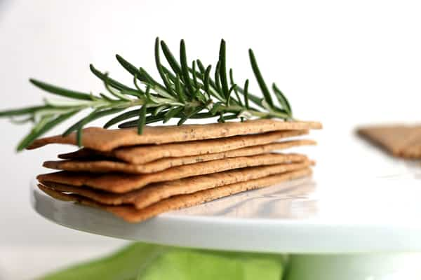 Buckwheat and Rosemary Crackers (gluten-free & vegan)