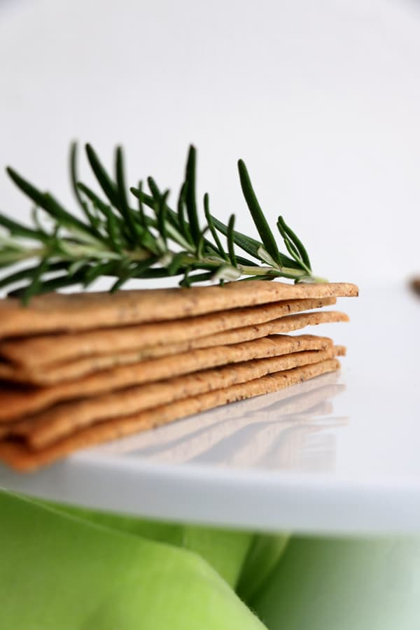Buckwheat Rosemary Crackers (gluten-free & vegan)