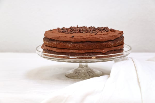 Gluten Free Chocolate and Courgette Cake