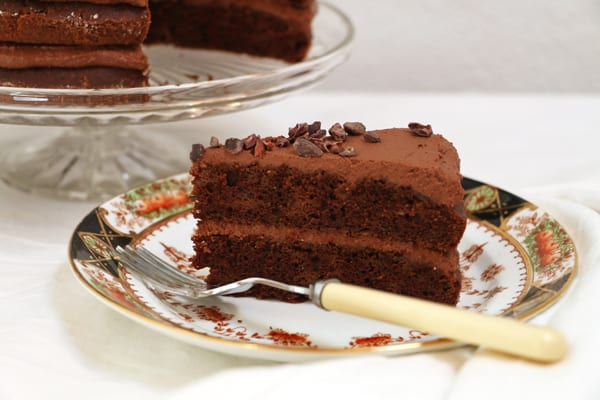 Chocolate-and-courgette-cake