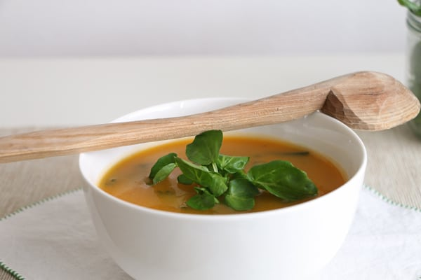 Squash, Swede and Watercress Soup