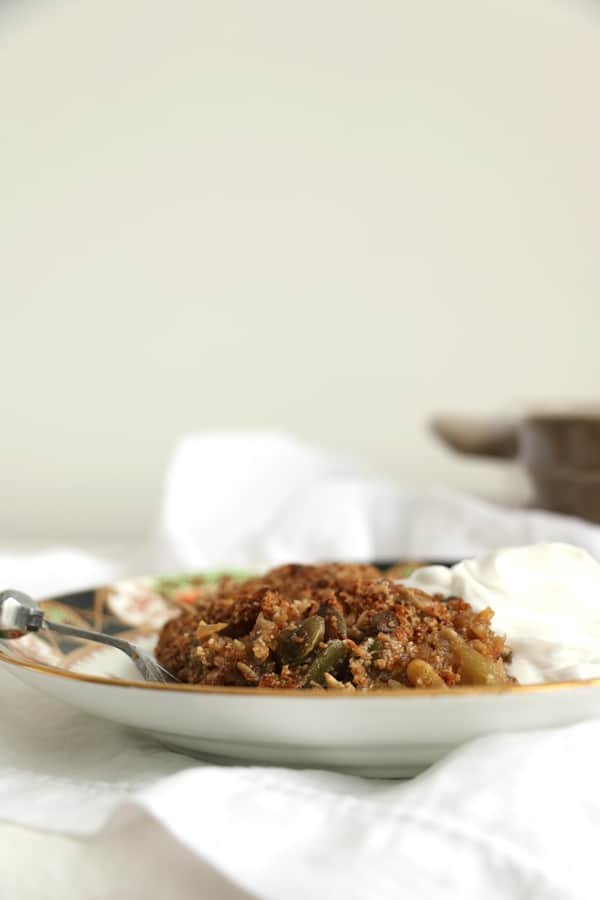 Gluten Free Apple And Rhubarb Cake