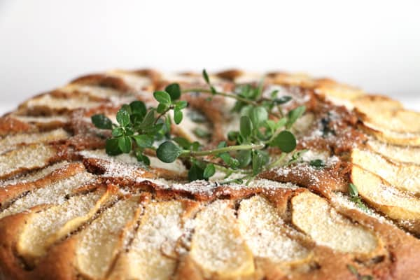 Apple Thyme and Almond Cake