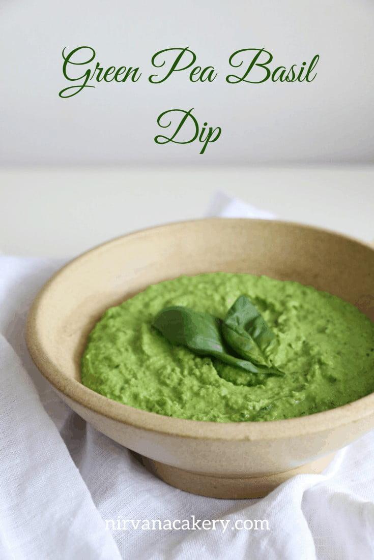 Green Pea and Basil Dip