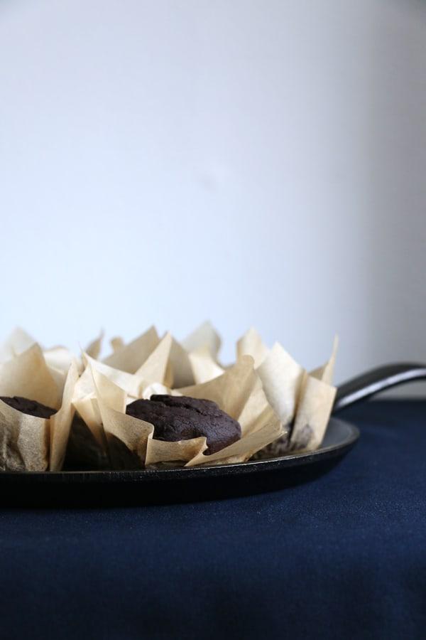 Pear and Carob Muffins (vegan & gluten-free)