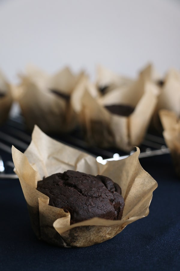 Pear and Carob Muffins