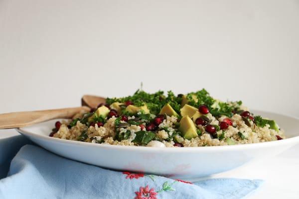 Quinoa Kale Pomegranate Salad