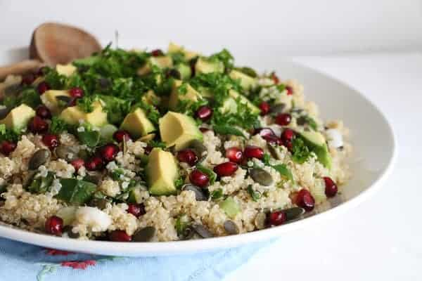 Quinoa, Kale and Pomegranate Salad