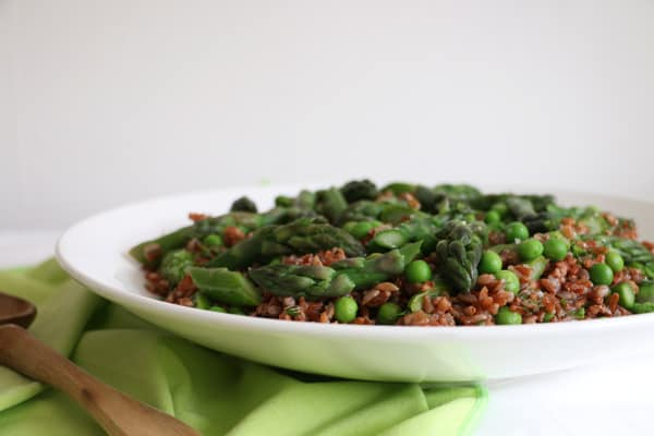 Asparagus, Peas and Dill Salad with Camargue Rice