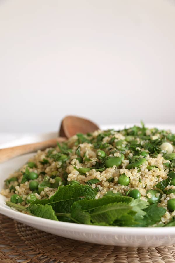 Broad Bean Pea and Quinoa Salad