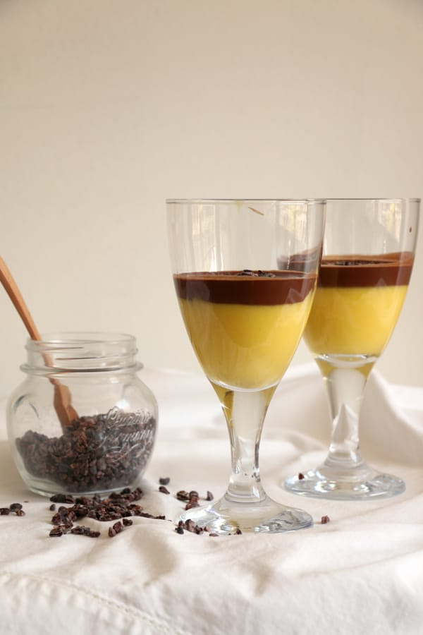 Mango Turmeric and Chocolate Mousse