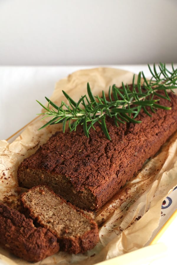 Apple and Rosemary Grain Free Bread