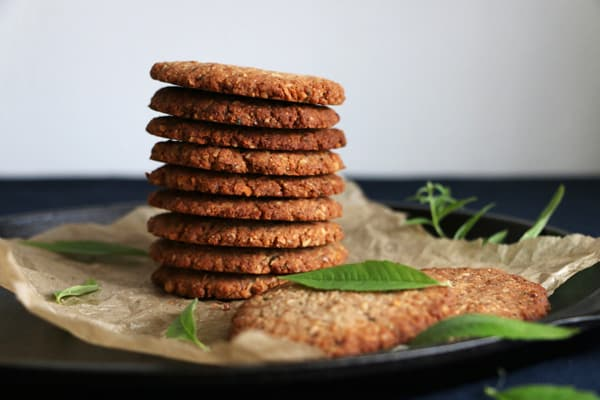 Lemon Verbena Walnut Cookies