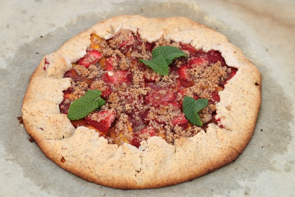 Peach and Strawberry Rustic Tart