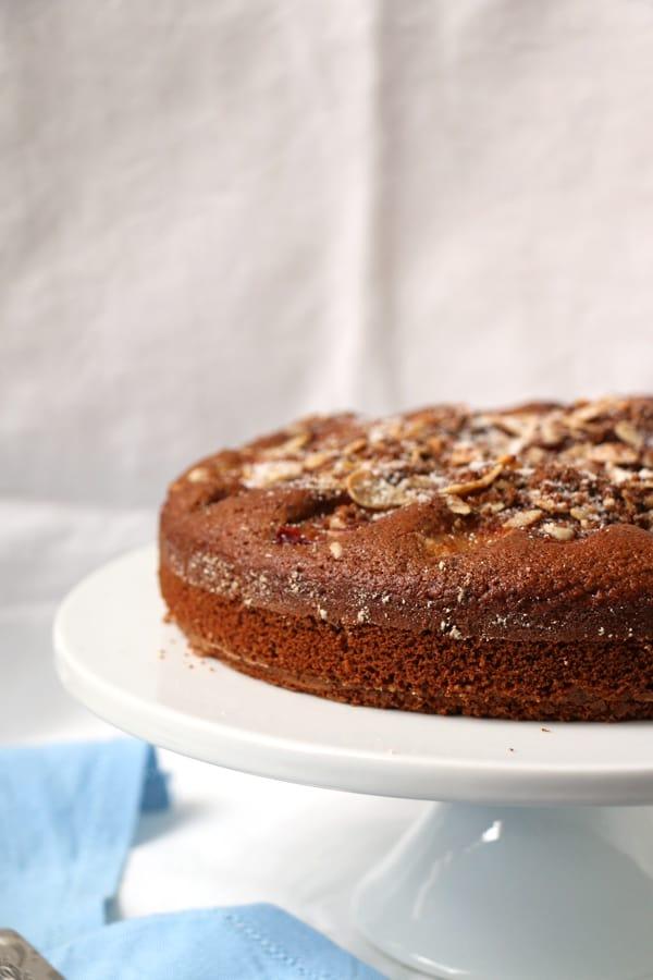 Plum and Almond Spelt Cake