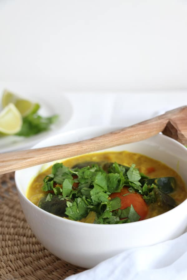 Aubergine, Courgette and Lentil Curry