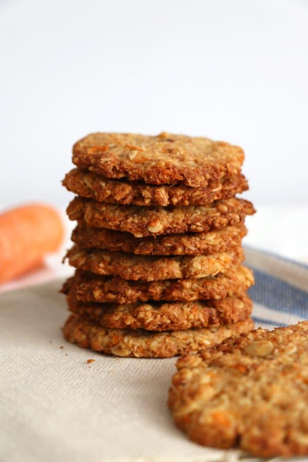 Carrot, Walnut and Oat Cookies (gluten-free & vegan)