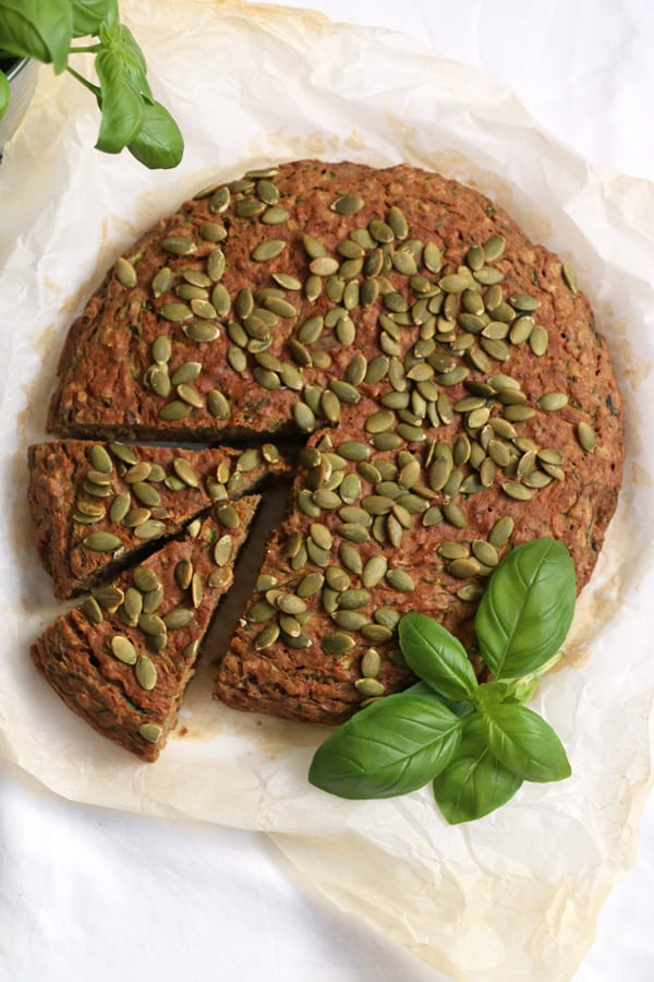 Savoury Courgette and Buckwheat Cake