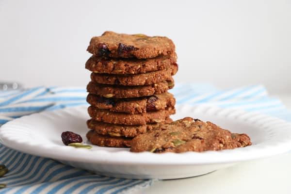 Cranberry, Hazelnut and Buckwheat Cookies