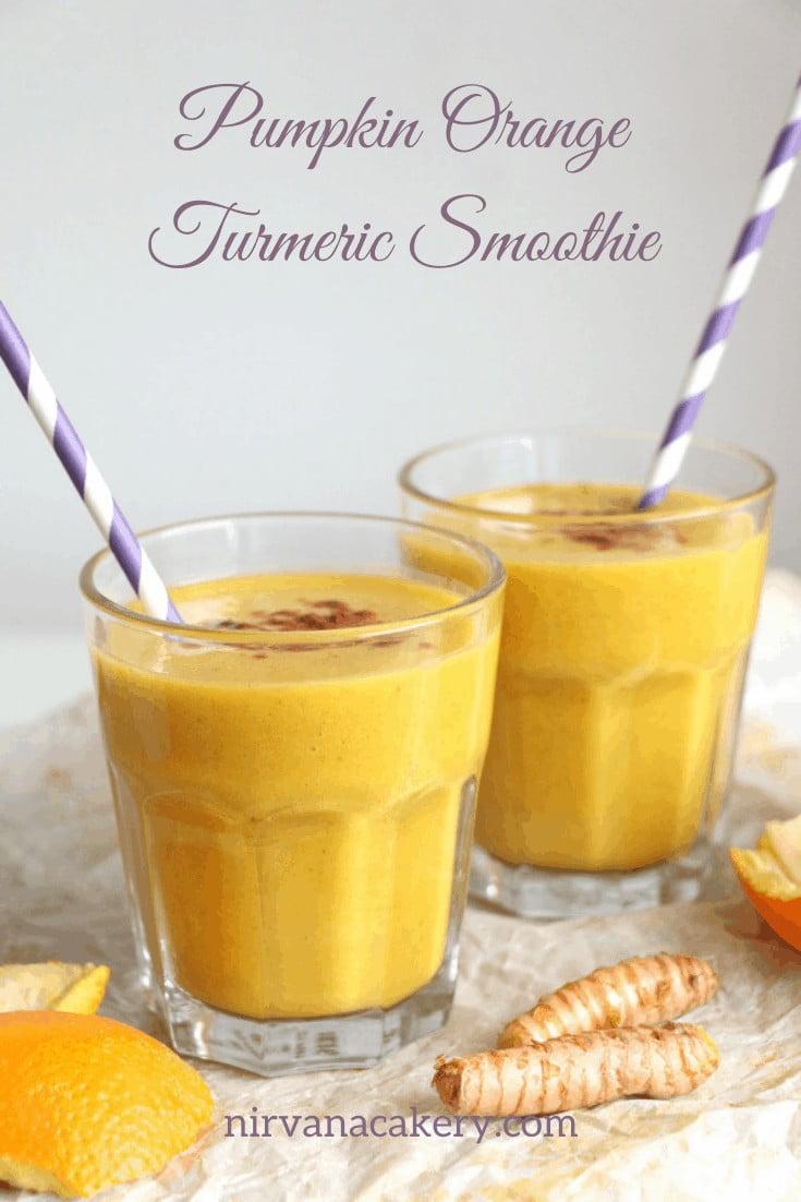 Pumpkin, Orange and Turmeric Smoothie