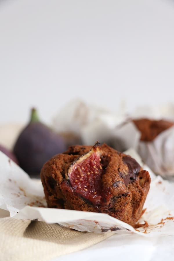 Fig, Walnut and Chocolate Muffins Vegan