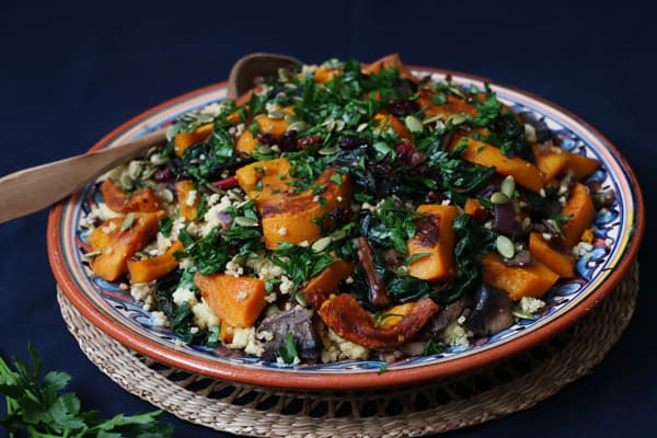 Pumpkin, Chard and Mushroom Millet Salad