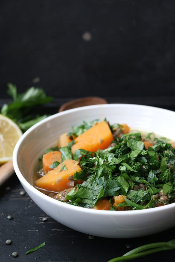 Lentil, Squash and Kale Stew