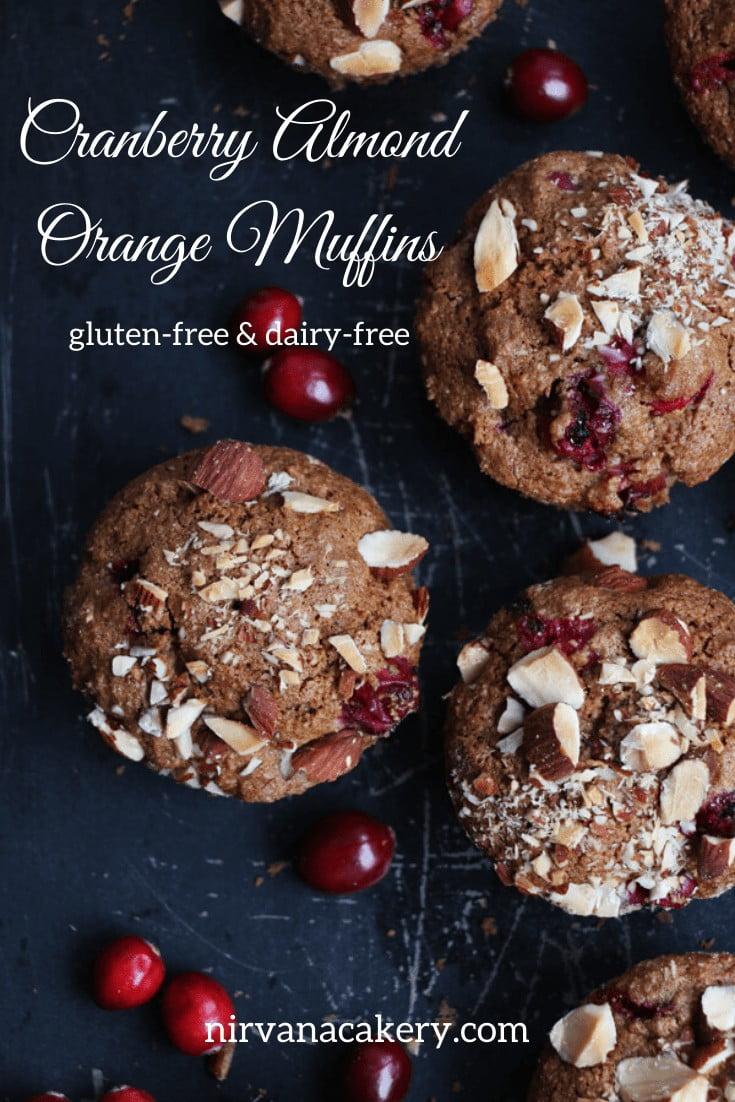 Cranberry, Almond and Orange Muffins (gluten-free)