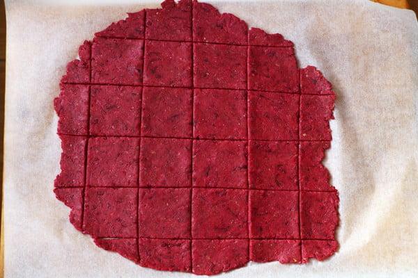 Beetroot and Buckwheat Crackers