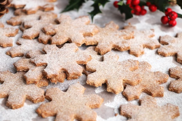 Hazelnut and Buckwheat Christmas Cookies