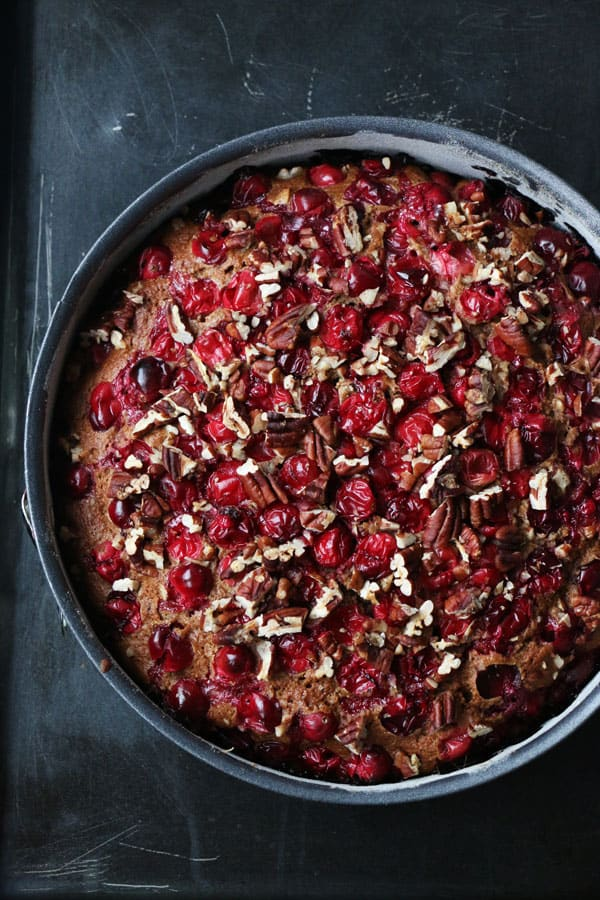 Spiced Cranberry and Pecan Cake