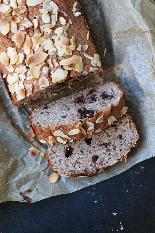 Banana Bread with Chocolate Chunks (gluten-free)