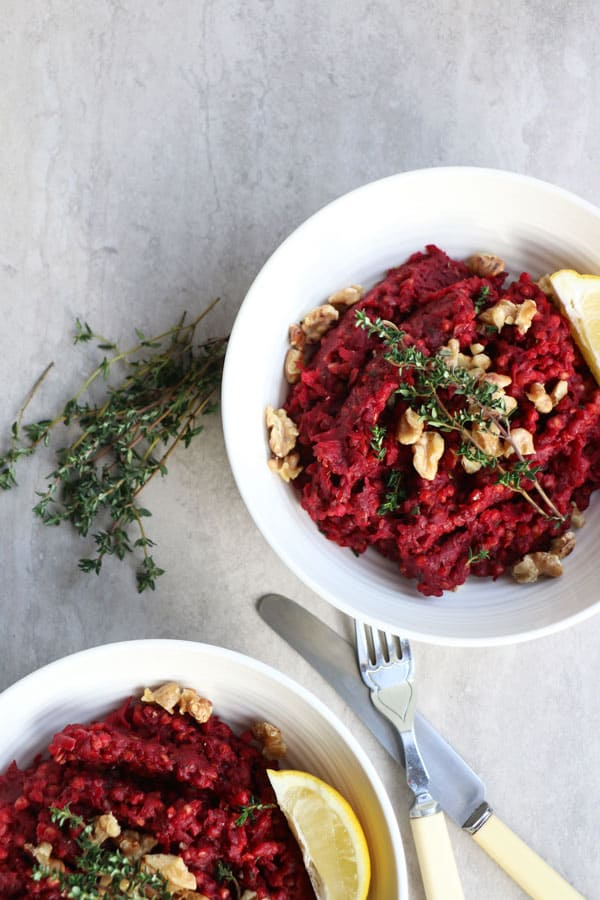 Beetroot, Buckwheat and Thyme Risotto