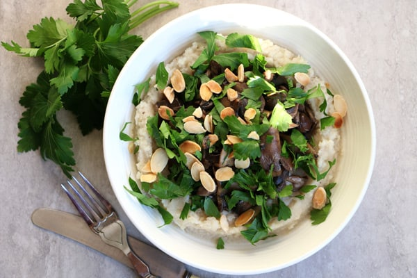 Celeriac Mash with Sauteed Mushrooms