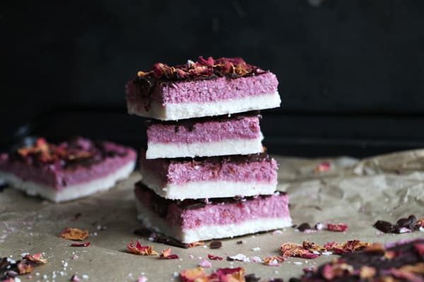 Raw Coconut and Raspberry Bars