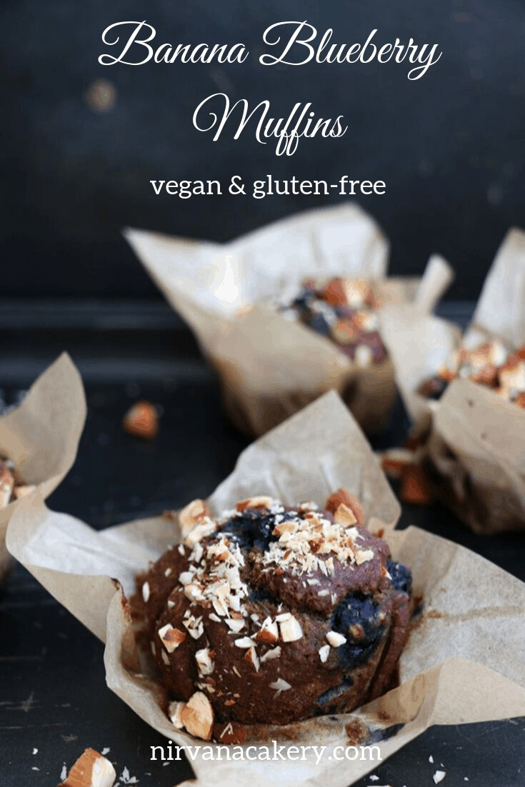 Banana Blueberry Muffins ( gluten-free & vegan)