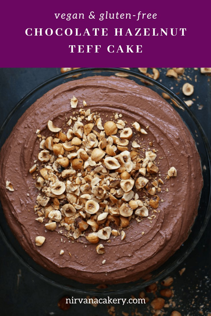 Chocolate and Hazelnut Teff Cake