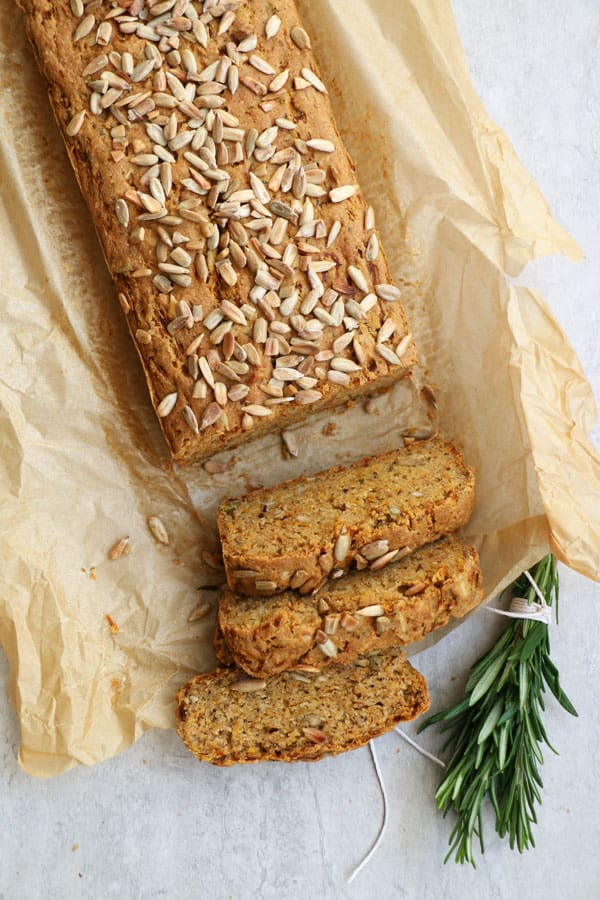 Butternut Squash Rosemary Bread (gluten-free & vegan)