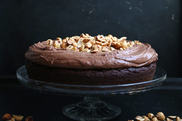 Chocolate and Hazelnut Teff Cake (gluten-free & vegan)