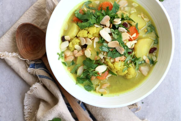 Cauliflower and Parsnip Coconut Curry