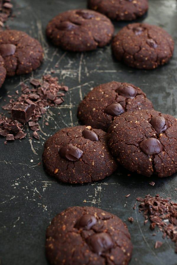 Chocolate and Hazelnut Teff Cookies