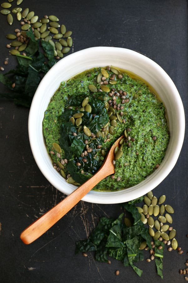 Tuscan Kale, Hemp and Pumpkin Seed Pesto