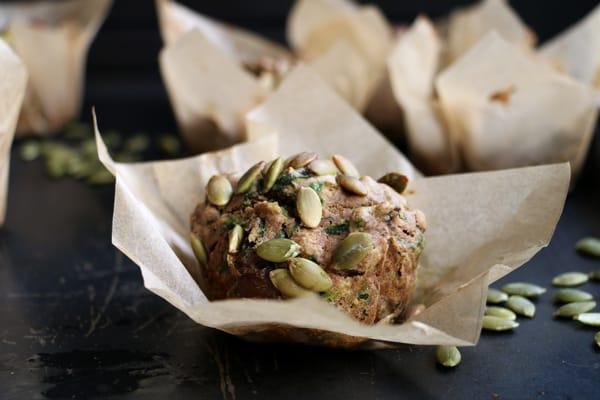 Mushroom, Kale and Buckwheat Muffins (gluten-free & vegan)