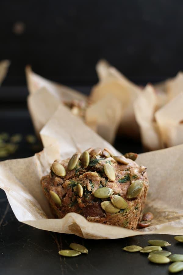 Mushroom, Kale and Buckwheat Muffins
