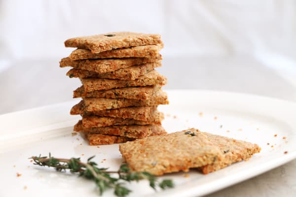 Parsnip and Thyme Grain Free Crackers (grain-free & vegan)
