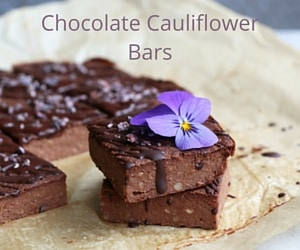 Chocolate Cauliflower Bars