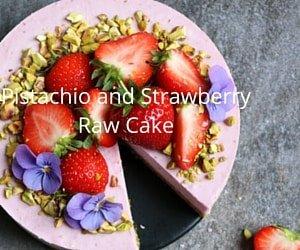 Pistachio Strawberry Raw Cake