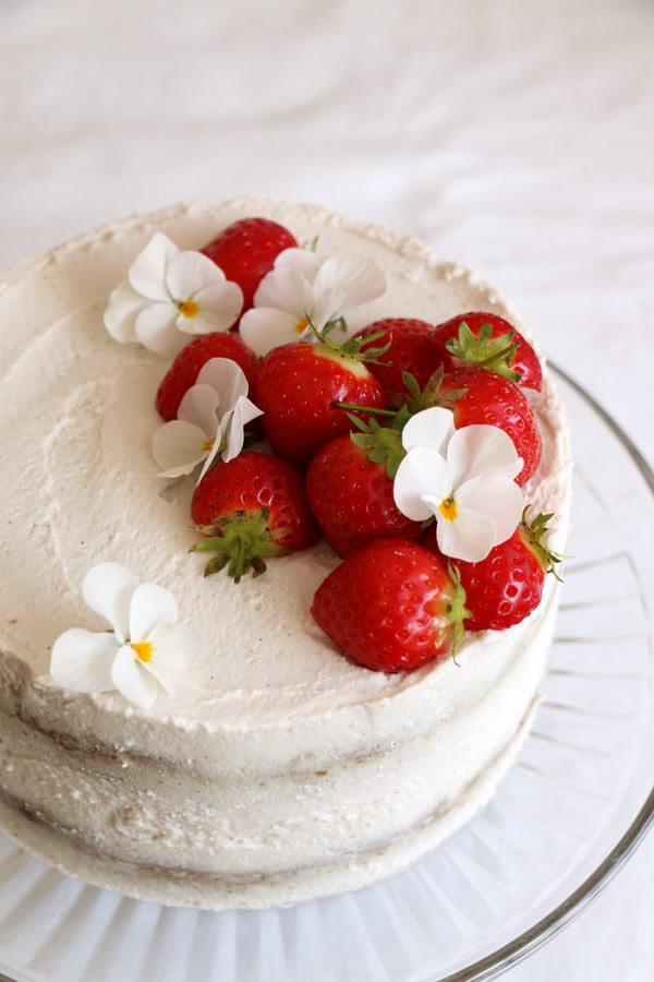 Strawberry Coconut Sponge Cake Gluten Free Amp Vegan