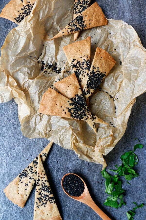 Cheezy Vegan Crackers (gluten-free)