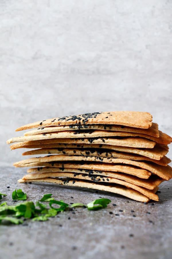 Cheezy Vegan Crackers (gluten-free)